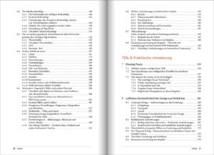 Seitenansicht, Inhaltsverzeichnis
